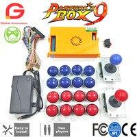 Original Pandora Box 9 1500 Games Set DIY Arcade Kit Push Buttons Joysticks Arcade Machine Bundle Home Cabinet with manual
