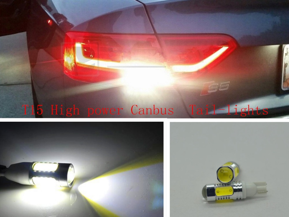 2 x T15 W16W No Error Plasma LED Projector bulb Tail Backup Reverse Lights For Audi S4 S5 S6 S8 B5 B6 B7 B8 C4 C5 C6 D3 D4