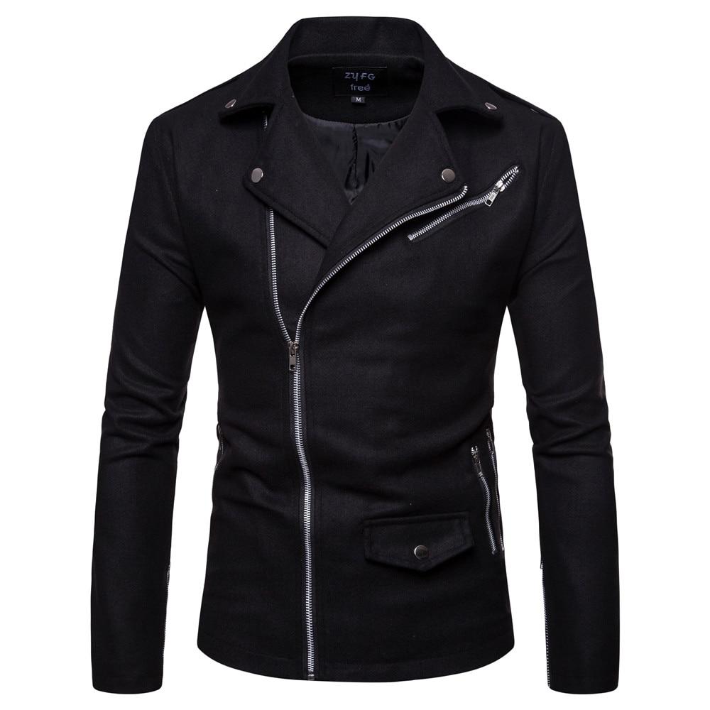 Men's Spring Wool Coat Men's Casual Long Woolen Coat Men's Solid Color Casual Fashion Jacket Casual Men's Coat