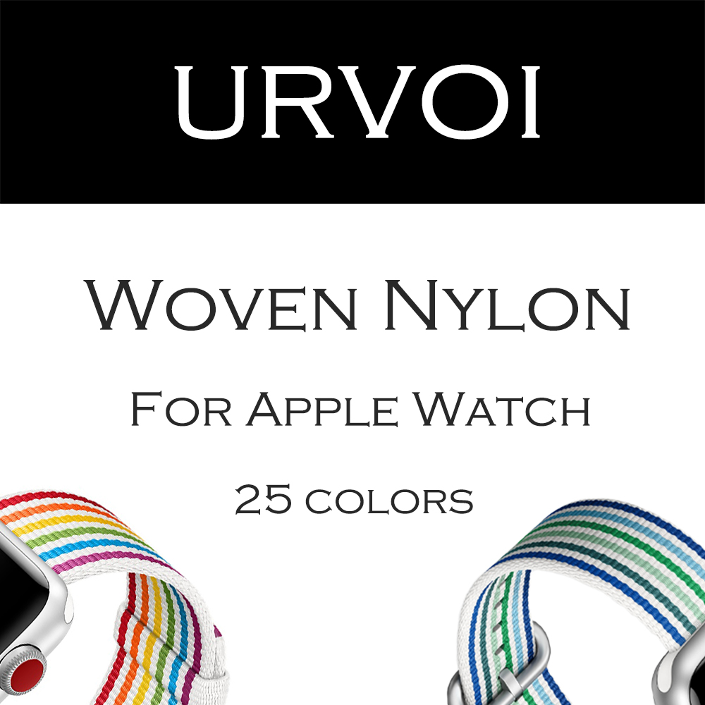 URVOI 2018 Woven Nylon for apple watch band series 3 2 1 durable strap for iwatch comfortable fabric-like feel new pride edition
