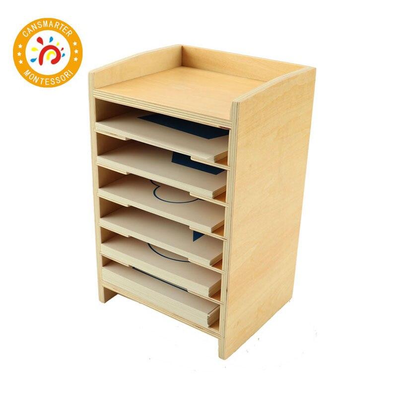 Montessori Bébé Jouet En Bois Géométrique Carte Cabinet L'éducation Préscolaire