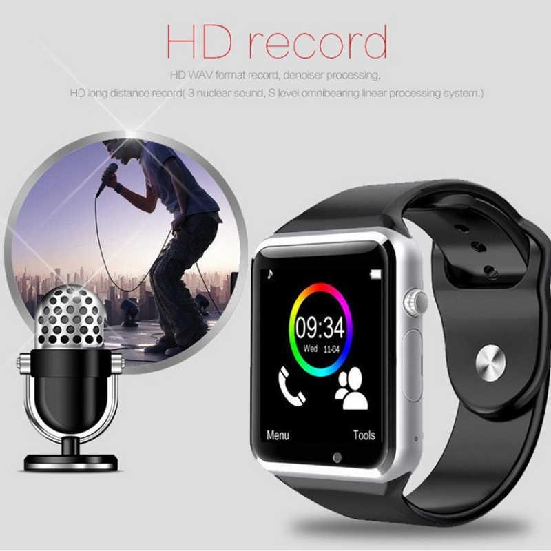 A1 наручные часы Bluetooth умные часы Спорт Шагомер с SIM Камера, умные часы для Android HUAWEI