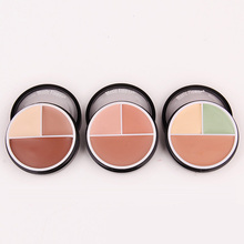 3 Colors nude Green brown Professional Flawless Foundation Concealer Cream Perfect Cover Face Makeup Face Foundation