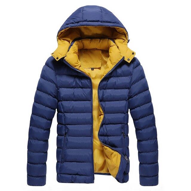 Mejor venta de tapa desmontable hombres delgados fit casual abrigo de invierno caliente espesa la chaqueta de invierno envío libre JPXYF04