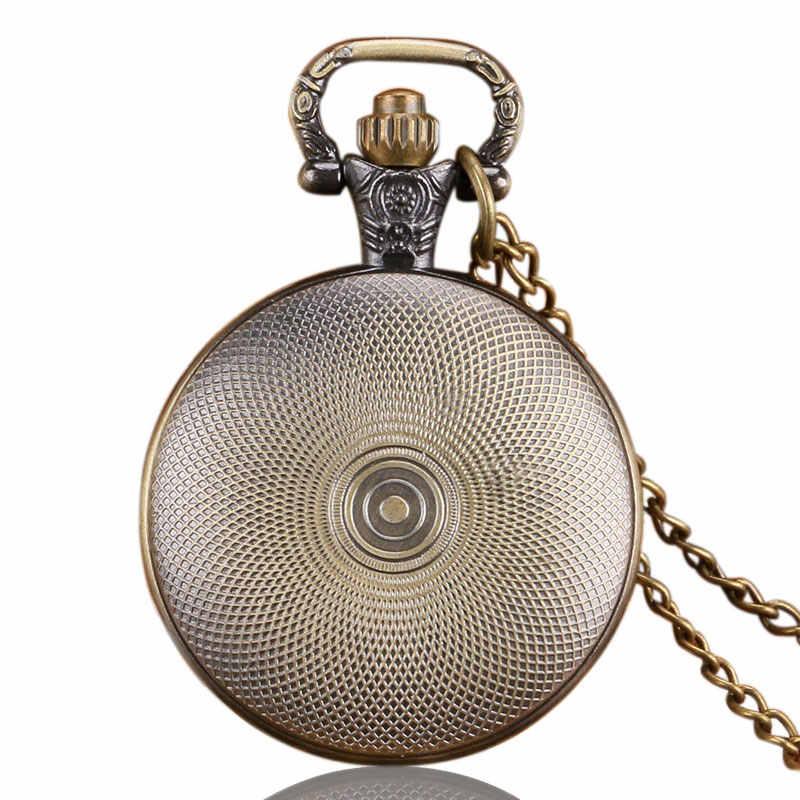 Популярные Ходячие мертвецы подарки кварцевые карманные часы США ТВ серии Тема ожерелье с кулоном в ретро-стиле бронзовые повседневные часы