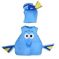 2018 pescados del Dory traje nuevo encontrar Dory Regal azul Tang rol disfraces mar animal Mascotas niños traje traje