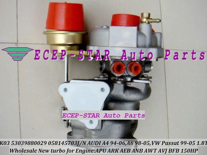 K03 5303988025 53039700025 058145703N Turbo turbocompresseur pour AUDI A4 A6 C5 pour volkswagen VW Passat B5 1.8L AEB BFB APU ARK 1.8 T