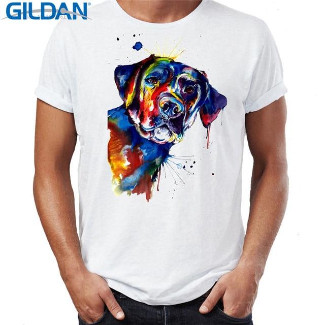 c3406cb342ca5 T Shirt Designer Short Sleeve 100% Cotton Black Lab Labrador Dog Crew Neck  Mens Tee