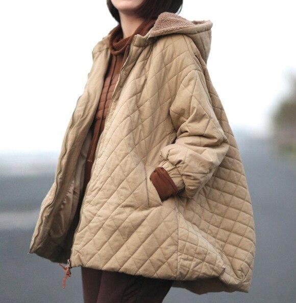 Para Acolchado Khaki Chaqueta Algodón Japón Abrigos De Capucha Las Camel Con Invierno Gruesa Black Chica 5qE0wA