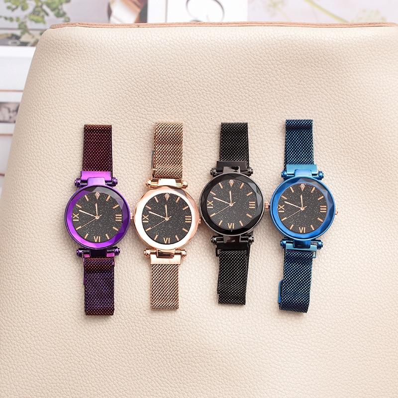Luxury Starry Sky Quartz WristWatch Kids Fashion Magnet Strap Wrist Watch Children Watches Hours Gift For Girls Relogio Infantil