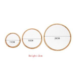 Image 2 - 3 Stks/set Bamboe Sieraden Display Standhouder Showcase Organizer Armband Ketting Ring Oorbel Display Voor Etalage