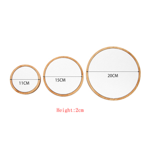 Image 2 - 3pcs/Set Bamboo Jewelry Display Stand Holder Showcase Organizer Bracelet Necklace Ring Earring Display For Window Display