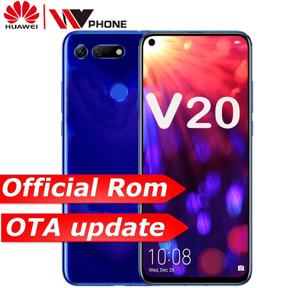 Honor HUAWEI honor v20 Vista 20 Ligação Turbo Smartphone honor 9 V20 Android Suporte NFC carga rápida carregador de Celular