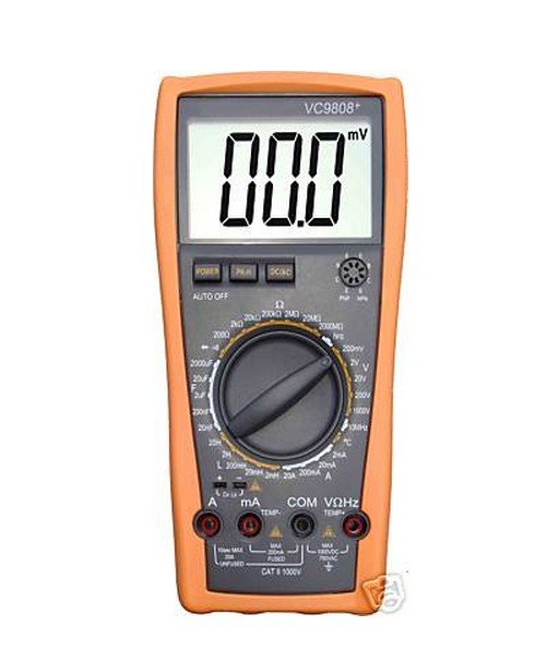 Ship from USA ­­3 1//2  Digital multimeter DCV ACV DCA//R//C//L//F 1 New VC9808