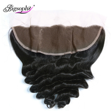 Bigsophy Hair Lace Frontal Closure With Baby Hair Loose Wave Human Hair Weave Ear To Ear 13X4 Lace Frontal Closure Remy Hair стоимость