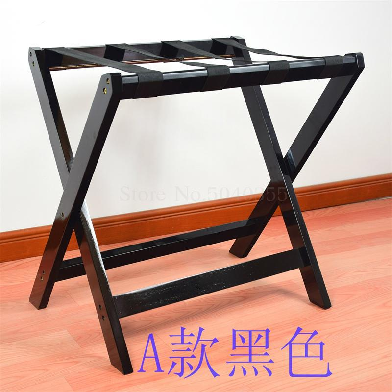 Solid wood luggage rack hotel floor folding racks home bedroom put sleep clothes simple shelves - Цвет: VIP 1