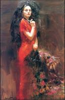 High Quality Flamenco Girl Famous Painter Wall Painting For Home Decor Oil Painting Printed On Canvas