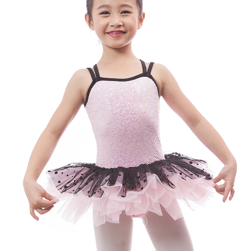 222cc7cf2804 Hot New Pink Sequin Camisole Ballet Tutu for Child Stage Show Girls ...