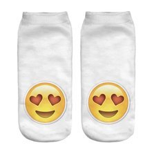 RUNNING CHICK New 3D digital printing socks qq expression printing funny socks(China)