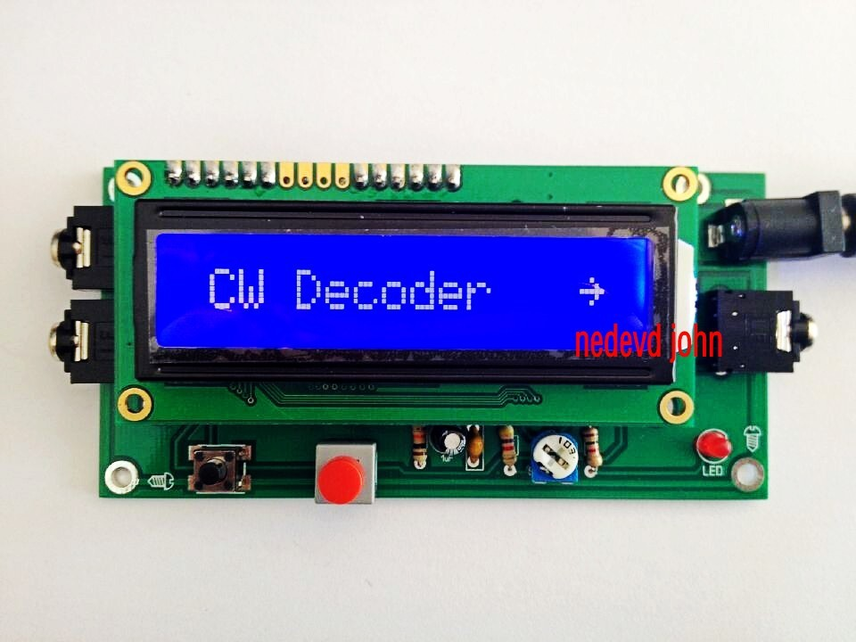 1602 lcd CW decoder Morse code reader Morse code translator Ham Radio Accessory