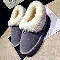 2016 venta caliente de las mujeres de cuero genuino botas de nieve 100% botas de piel de nieve caliente botas de invierno de lana natural envío libre-e