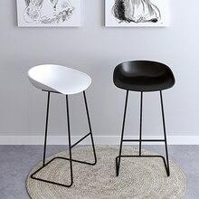 Скандинавские барные стулья из кованого железа, Европейский современный минималистичный домашний стул с спинкой, высокий стул, креативный сетчатый красный бар
