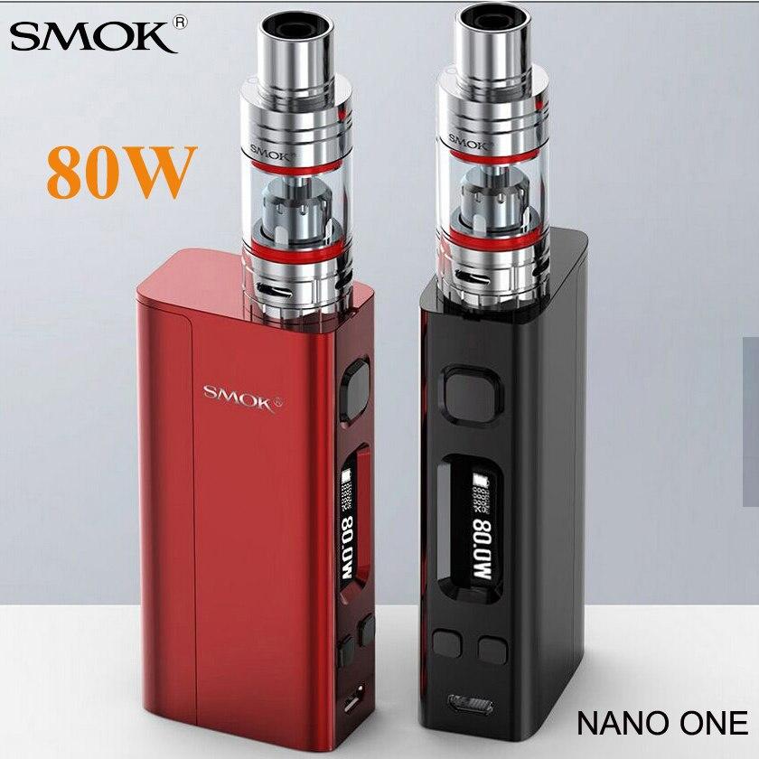 Vape SMOK Nano un Kit de démarrage Cigarette électronique r-steam Mini 80W TC vaporisateur boîte Mod Nano TFV4 réservoir VS Pico S219