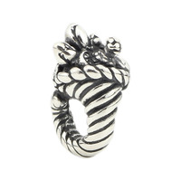 Charms 925 Sterling Silver Cornucopia Horn Of Plenty Antique Making Bead Fit Charm European Style Jewelry Bracelet Necklace