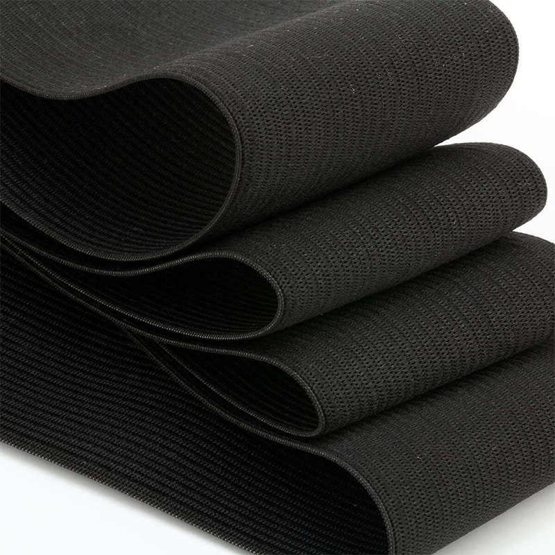 1 metre geniş 6/20/25/30/35/40/45/50MM naylon en yüksek elastik bantlar konfeksiyon için düz bant dokuma pantolon dikiş aksesuarları DIY