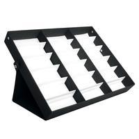 18 Scatola di Immagazzinaggio Occhiali Da Sole Display Stand Protector Vassoio Da Sole Eye Wear Accessori Vassoio Stand Piegato Negozio di Vendita Al Dettaglio