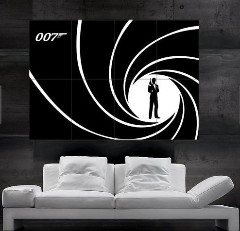 James Bond 007 Poster art print wall 8parts free shipping NO145 & James Bond 007 Poster art print wall 8parts free shipping NO145-in ...