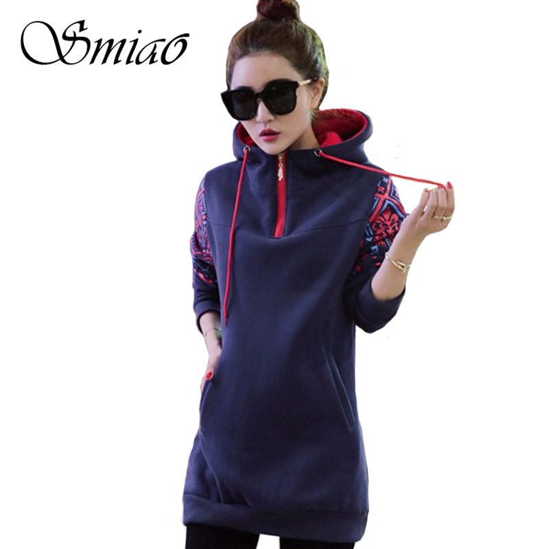 Smiao 2018 Langarm Female Hoodies Herbst Frauen Sweatshirts Dick Plus - Damenbekleidung