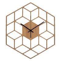 1 шт. шестигранные деревянные настенные часы усовершенствованные европейские минималистичные Геометрические линии изысканные художестве...