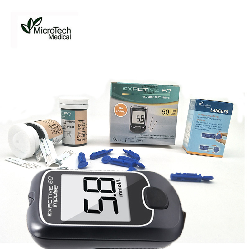 MICROTECH MEDICAL Test strips EQ Impulse Blood Glucose Meters Monitor Accessories Diabetic Test Blood Sugar Monitor Accessory(China)
