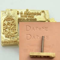 Leather Hot Stamping Gold With Copper Mold With Handle Mold Custom Design Free Shipping