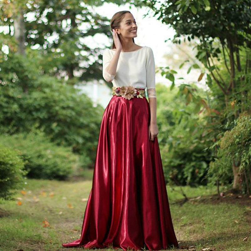 Popular Burgundy Maxi Skirt-Buy Cheap Burgundy Maxi Skirt lots ...