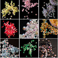 100pcs/pack 4MM Jelly AB Rhinestones Acrylic Mobile Phone Beauty Decorations DIY Nail Art Materials Flat Crystal
