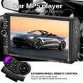 Tela sensível ao toque de controle da roda de direcção 7 polegada MP5 rádio Do Carro MP3 2 DIN Carro De Áudio de vídeo USB TF AUXIN bluetooth câmera backing-up prioridade HD