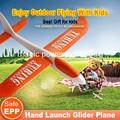 Chegada nova Poder Mágico de Alta Qualidade Mão Lançamento Planador EPP Avião Girando Aerodancer Brinquedo Avião 480 MM Envergadura
