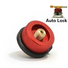 Adapter gazowy kuchenka kempingowa Adapter palnika konwersja złącza zaworów zewnętrznych napełnianie butan paliwa przenośne cylindry propan