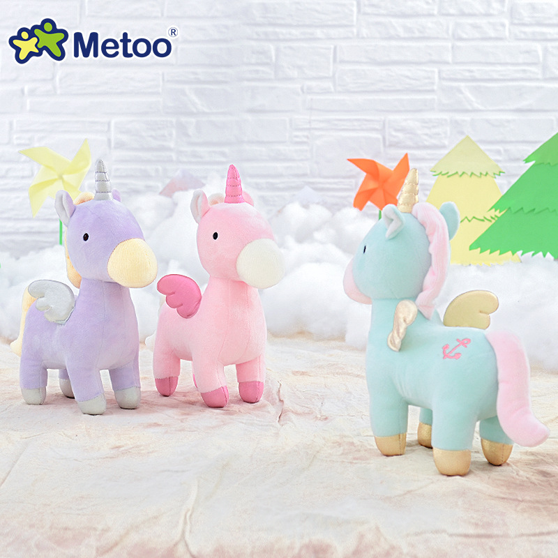Metoo Doll Soft Kids Toys for Girls Children Baby Kawaii Stuffed Plush Animals Cartoon Birthday Christmas Gift 23cm Horse baby toys