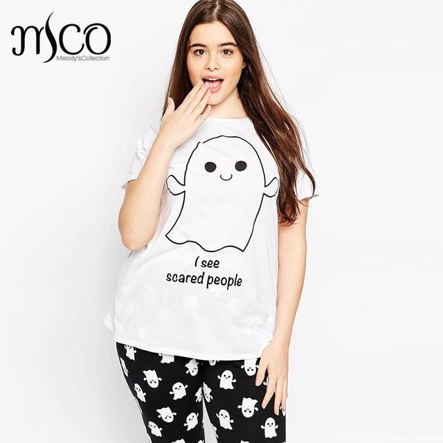 318d4f7c21f Casual Plus Size Women Loose Fit T-shirt Cute Alien Funny Letter Print  Tumblr Tee