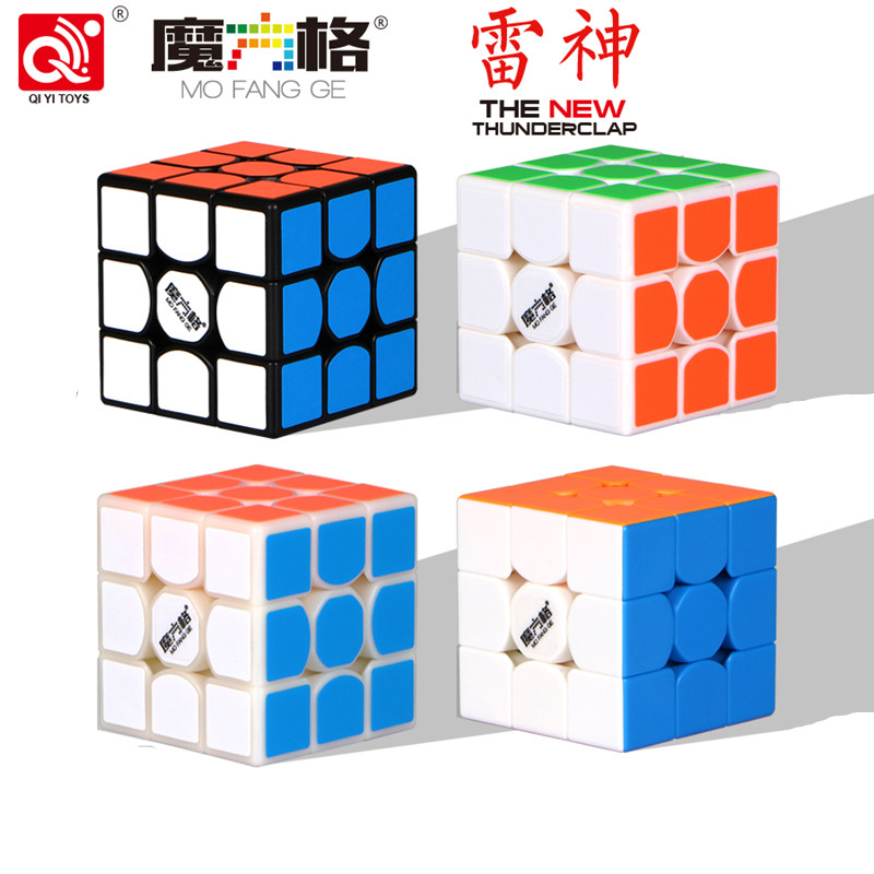 QiYi MoFangGe Neue thunderclap V2 Magic Cube 3x3 Donner Klatschen Puzzles Cube professionelle Geschwindigkeit magico Cubo Traditionellen Cube spielzeug