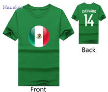 9a887922edd 2018 mexico flag with chicharito name 14 T-Shirt Men Short Sleeve 100%  cotton O Neck T shirts for Javier Hernandez fans gift