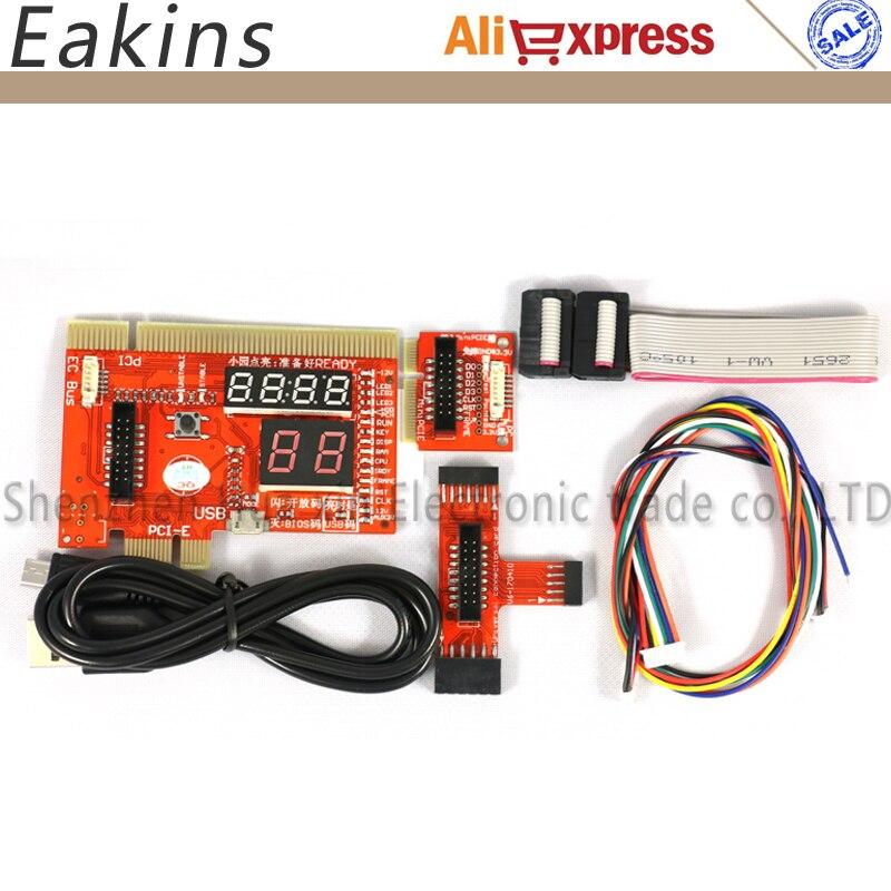 KQCPET6-H V6 Tipo B 3 in 1 Telefono/Laptop/Desktop PC Diagnostico Universale Test Debug Re Post Card Per PCI PCI-E LPC Minipci-e EC