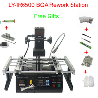 Infrared BGA rework station LY IR6500 V.2 with bigger preheat area 240*200mm upgrade from IR6000 free tax ship to Russia