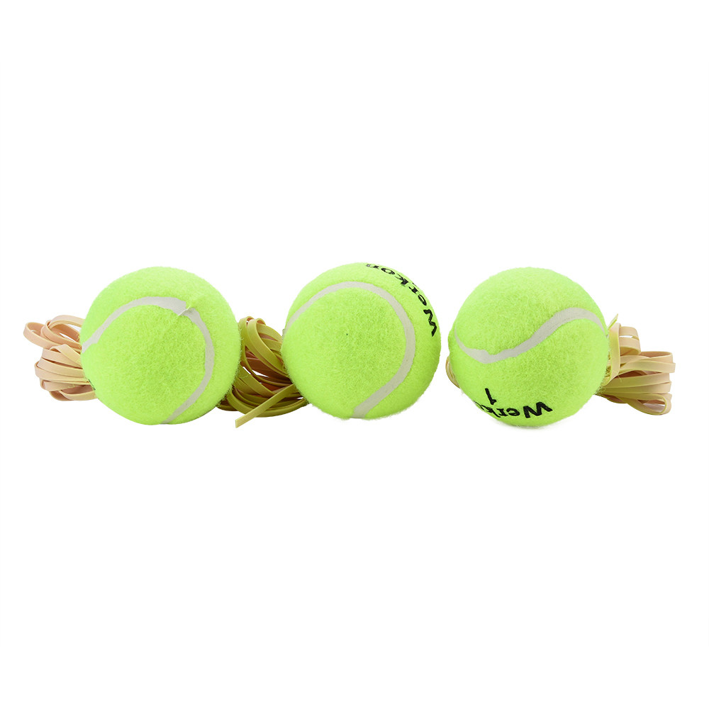 3Pcs Training Tennis Ball Dog Pet Chew Drill Exercise Resiliency Tennis Balls Trainer With String Toy Practice Dropship#0612