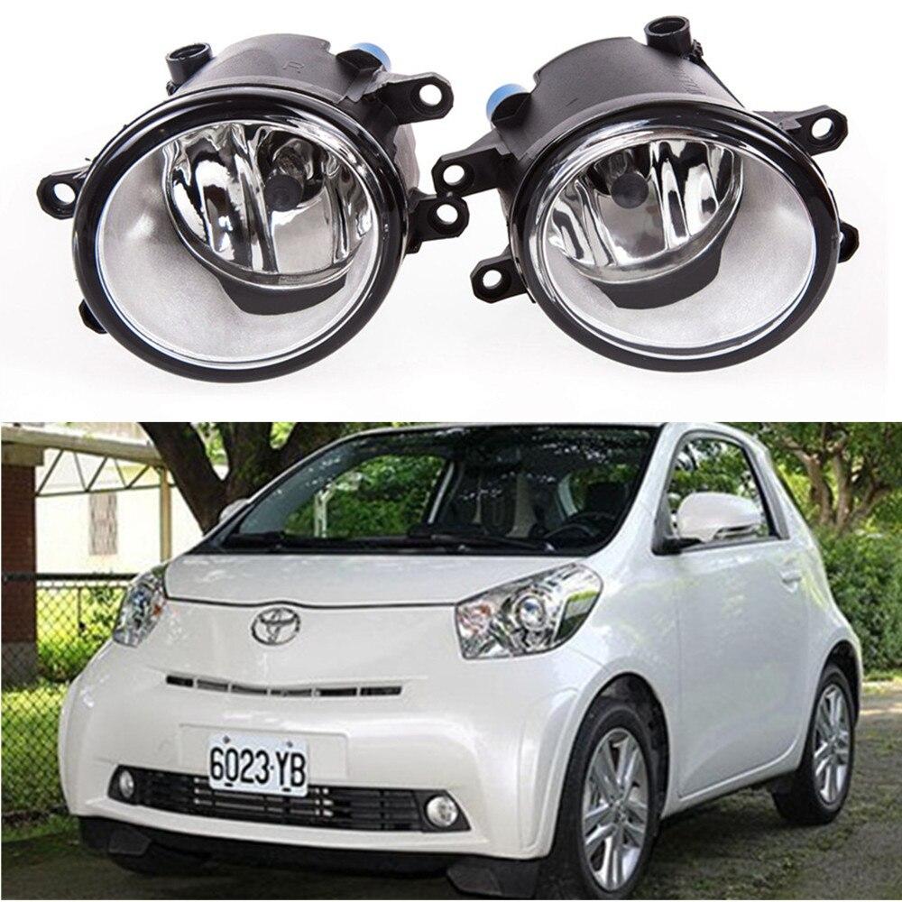 for car styling Front bumper Fog lights For TOYOTA IQ Hatchback KGJ1 NGJ1 2009-2014 Halogen1SET malcayang fog lights for polo 12v 55w h11 1 set car styling halogen for lexus rx350 awd 2009 2013