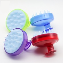 1PCS Spa Slimming Massage Brush Silicone Head Body Shampoo Scalp Comb Hair Washing Shower Bath