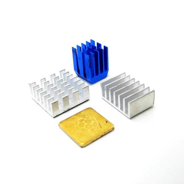 Raspberry Pi 4 Kühlkörper Aluminium Kühlkörper Kupfer Kühler Kühler Kit Cooling Pad für RPI 4B